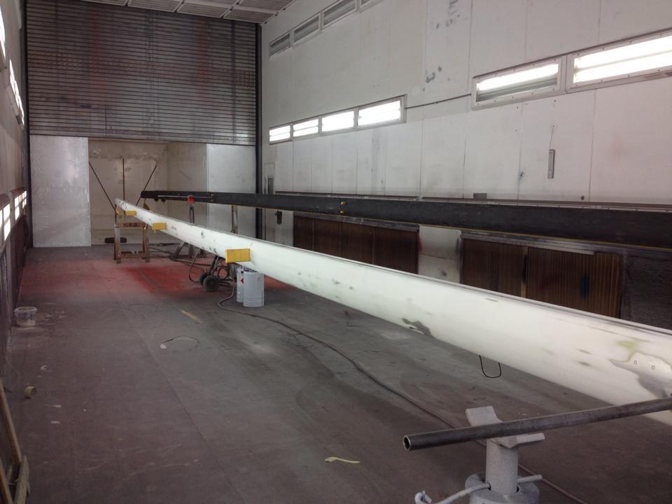 Masten van 18 en 23 meter